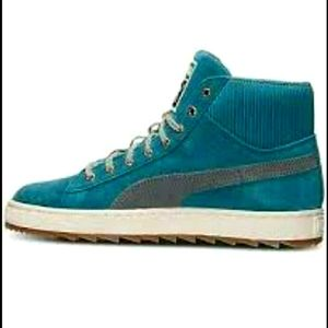 Puma Suede High tops Teal Woman's siz